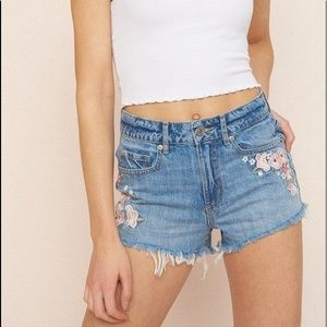 Garage Embroidered shorts!